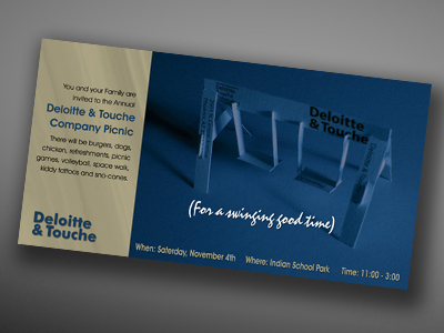Deloitte & Touche invitation design